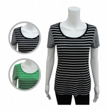 Wholesale Womens Ex High St T-Shirt Top Multi Stripes